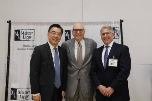 The Meltzer Lippe Forum and more than 80 guests welcomed Ambassador Ping Huang Consul General for the People's Republic of China