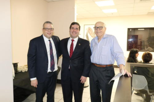 Tim Sini, Suffolk County District Attorney, visited the firm